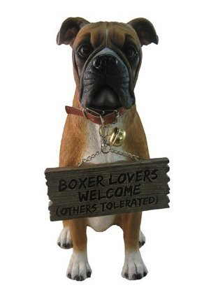 World Of Wonders U0026quot;Tysonu0026quot; The Boxer Dog Garden Welcome Statue