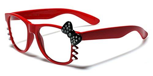 Hello Kitty Womens Girls Rhinestone Clear Lens Sunglasses - - Sun Glasses Hello Kitty