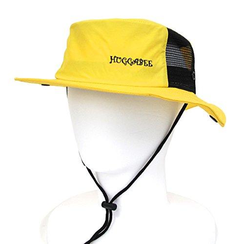 引き算赤外線ロック解除HUGGABEE ハガビー 帽子 キッズ サーフハット イエロー サファリハット 子供 メンズ レディース