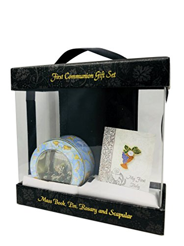 Sacred Traditions Catholic Everlasting Classic Deluxe First Communion Gift Set Boy (Black) (Wood Centerpieces Michaels)