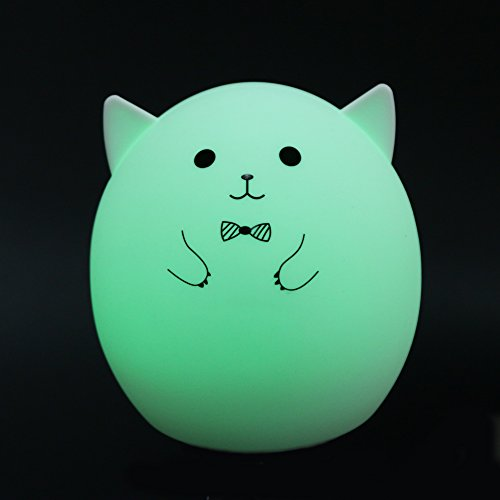 MKChung Mini LED Night Light, Cute Animal Shape Silicone Decompression Lamp for Student Kid Gift (Colorful)(Style 1) by MKChung (Image #3)