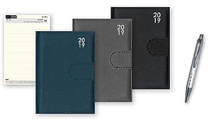 2019 - Agenda de bolsillo semanal con diseño acolchado, regalo de Navidad para el hogar, oficina, WDTV WD2V, color gris