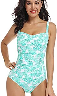 AS ROSE RICH - One Piece Swimsuits for Women - Soft and Colorful Floral Design