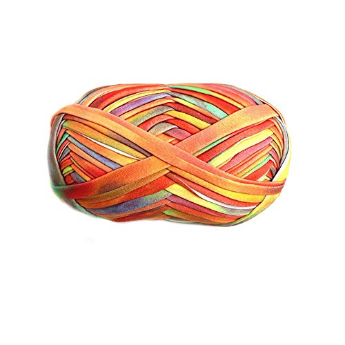 Clisil 2.2 lbs Hand Dyed DIY Summer Bag T-Shirt Yarn Bulky Fettuccini Zpagetti Trapillo Yarn for Knitting Sewing Crocheting Bags Bowls