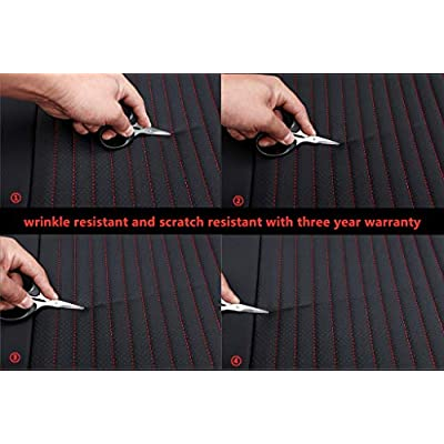 COLOGo Easy to Clean and Waterproof PU Leather Edge Wrapping Car Front Seat Cushion car seat Cover- Seat Protective Cover, three year warranty,Easy to Install Fit Most Front Driver Seat(2pcs) (Black): Kitchen & Dining