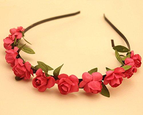 Flower Garland Boho Floral Headwear Headband Garland Festival Wedding Bridal Hairband Women