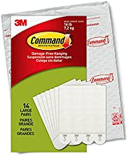 Command Picture Hanging Strips, Holds 16 lbs, 14 Pairs, White, PH206-14NA