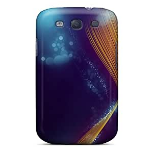 MljlyIt379tPGmi Case Cover, Fashionable Galaxy S3 Case - Violet Yellow