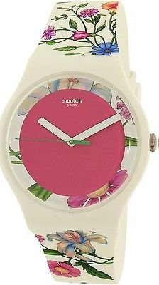 Swatch Women's New Gent SUOW127 Multicolor Silicone Swiss Quartz Watch