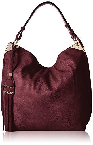 MG Collection Hobo Studded Tassel Bag - Brown Suede Hobo