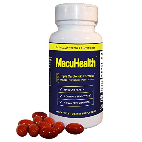 MacuHealth Eye Vitamins Supplements for Adults (90 Softgels, 3 Month Supply) Eye Formula with Lutein and Vitamin E | Protect Against Macular Degeneration | Enjoy Long-Term Visual Health and Clarity