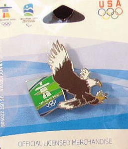 Vancouver Pins Olympic 2010 (2010 Vancouver Olympics - Eagle Logo Pin)