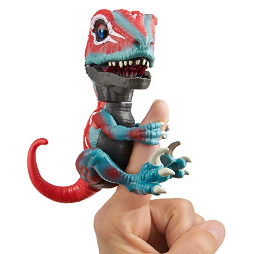 - Untamed Raptor - Series 2- by Fingerlings - Mutant (Red & Blue) - Interactive Collectible Dinosaur - by WowWee