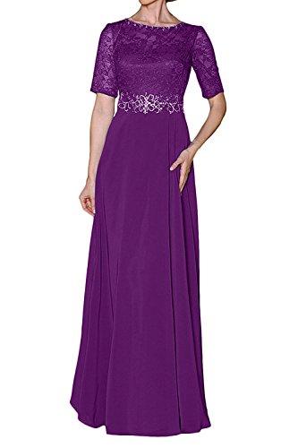 Chiffon Violett Brautmutterkleider Elegant Formal Partykleider Festlichkleider Abendkleider mia Braut Kleider Langes Damen La xqtwY7RB