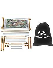 Frank A. Edmunds Handi Clamp Scroll Frame Set Bundle with Artsiga Crafts Small Project Bag