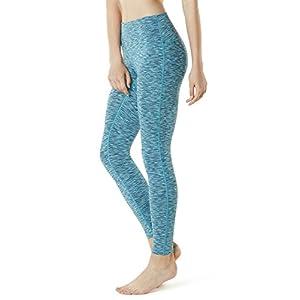 Tesla TM-FYP42-SDB_Small Yoga Pants High-Waist Tummy Control w Hidden Pocket FYP42