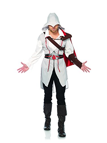 Leg Avenue Men's Assassins Creed Ezio Standard Costume, Grey, Small (Assassin Halloween Costumes)