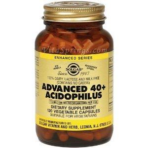 Solgar, Advanced 40+ Acidophilus, 120 Veggie Caps - 2pc