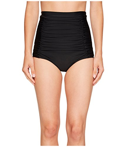 Unique Vintage Women's Monroe Bikini Bottom, Black, SM (US 6)