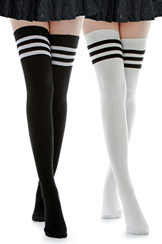 - Kayhoma Long Cotton Mid Thigh High Socks Over the Knee High Boot Stockings Cotton Leg Warmers