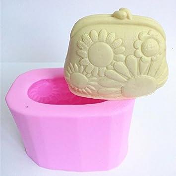 Girasol cartera monedero sopa de silicona molde 3d Fondant molde para Chocolate: Amazon.es: Hogar