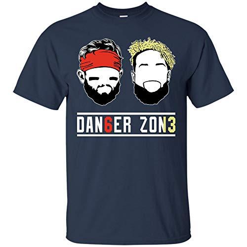 Baker-Mayfield Odell-Beckham Jr Tshirt Danger Zone T Shirt Sweatshirt Hoodie Browns OBJ Cleveland Tshirt (Unisex T-Shirt;Navy;XL) -