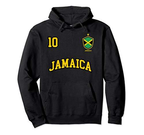 (Jamaica Hoodie Number 10 Soccer Team Sports Jamaican)