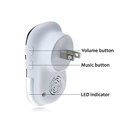 Portable Wireless DoorBell,AI-Orange Waterproof Door Bell Chime,LED dicator,1000 Feet Operating,28 Melodies,1 Plug-In Receiver and 1 Push Button Transmitter,1 battery Required for the Receiver .
