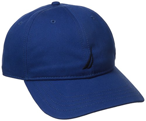 Baseball Hat Adjustable Logo (Nautica Men's Standard Classic Logo Adjustable Baseball Cap Hat, Estate Blue, One Size)