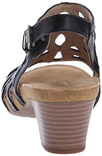 Platform Black Ruth Sandal Women's 03 Josef Seibel nAqIgg
