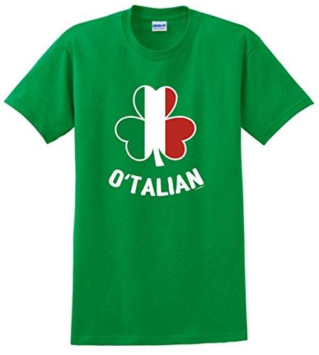 Funny St Patricks Day Shirt Women O'Talian Italian Pride Irish Funny St Patricks T-Shirt Small Green