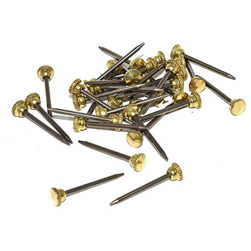"1/"" 25mm hardened knurled brass head picture hook pins nails decorative mirror"