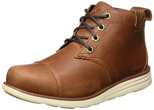 Columbia Men's Irvington Leather Chukka Waterproof Uniform Dress Shoe, Cinnamon, Maple, 13 D US