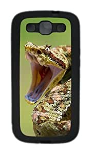 2014 Year Of The Snake Special Edition Desktop Custom Design Samsung Galaxy S3 Case Cover - TPU - Black