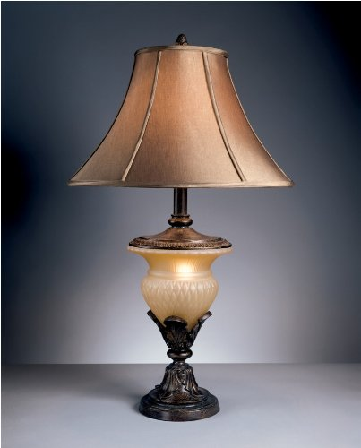 Traditional Beige and Bronze Danielle Table Lamp (Set of Two) Part No. (Ashley Furniture Brush)