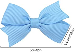Girls Large Royal blue /& Silver Handmade Ribbon School Hair Bow// Clasps //Clips
