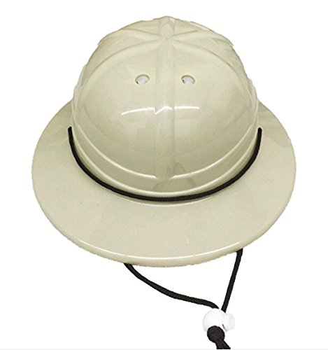 GiftExpress Kids' Hard Plastic Safari Pith Helmet (Gray Tan) ()