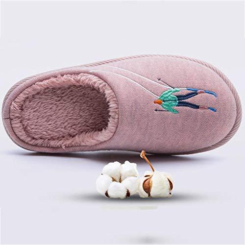 Opzionale Cotone Morbido Hengxiao Casa 4 Ricamo ,autunno Pantofola Inverno Peluche Home Indossabile Modello E Pantofole Colori In Pattini Scarpe Marina Ciabatte Calda 5HtBqx