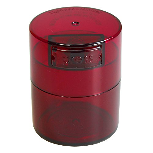 Minivac - 10g to 30 grams Airtight Multi-Use Vacuum Seal Portable Storage Container for Dry Goods, Food, and Herbs - Red Tint