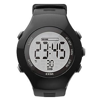 TR Reloj digital de los deportes de las mujeres de los hombres del contador de la caloría del apuntador del ezon t043 de la llegada del , black: Amazon.es: ...