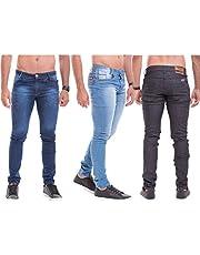 Kit Com 3 Calças Jeans Slim Com Lycra Originais - Zaretã