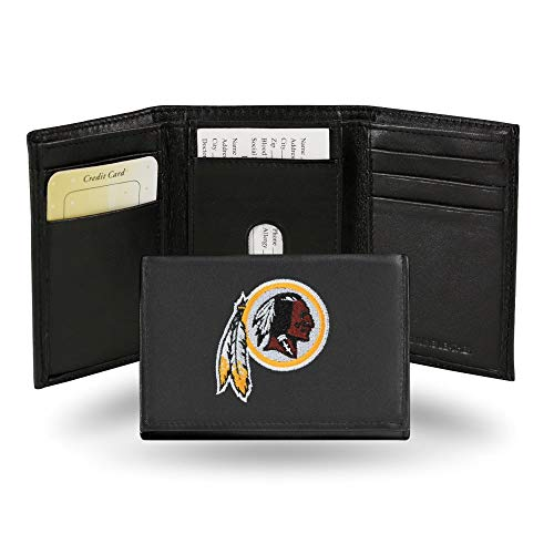 NFL Washington Redskins Embroidered Genuine Cowhide Leather Trifold Wallet