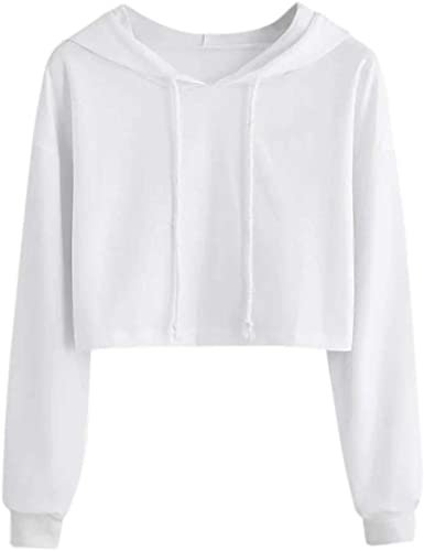 Qvwanle Women Autumn Sweatshirt Casual Pullover Patchwork Short Long Sleeve Crop Tops