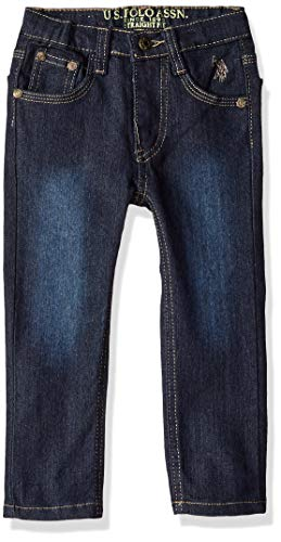 - U.S. Polo Assn. Toddler Boys' Skinny Jean, Flex Spandex Denim Dark Crinkle, 3T