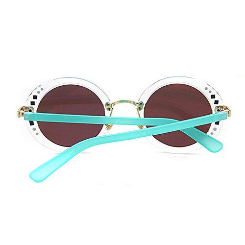 Conducir Decoración Gafas para Playa Remaches de Mujer C6 Completo Marco de de Verano C3 Vacaciones UV de Peggy Color Sol Redondo Protección Gu 5tAwxq5Z0
