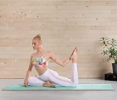 Heathyoga Toalla Antideslizante de Yoga, Revestimiento de Silicona Antideslizante, diseño de Bolsillo de Las 4 Esquinas, Lavable a máquina, Super ...
