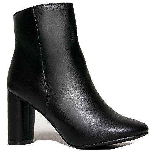 Breckelle's Ankle Dress Boot - Sleek Simple Ankle Bootie, 8 B(M) US Black (Triple Eight Knee Pads Kids)