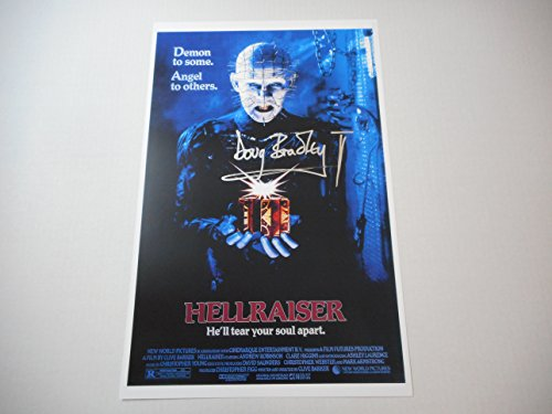 Hellraiser 11x17 Poster Signed Autographed by Doug Bradley as Pinhead (Hellraiser Autographed Poster)