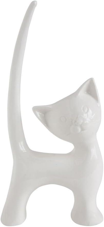 Kitty Cat Decorative Ceramic Ring Holder