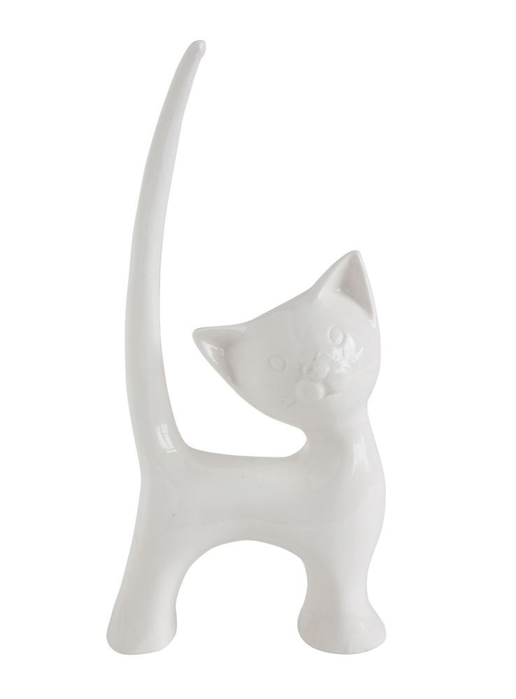 Heart of America Stoneware Cat Ring Holder - 6 Pieces